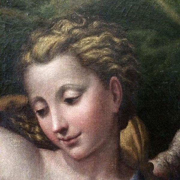 Annunciazione, particolare, Gervasio Gatti il Sojaro, fine sec.  XVI-inizi XVII. Laura Rocca, Torino.