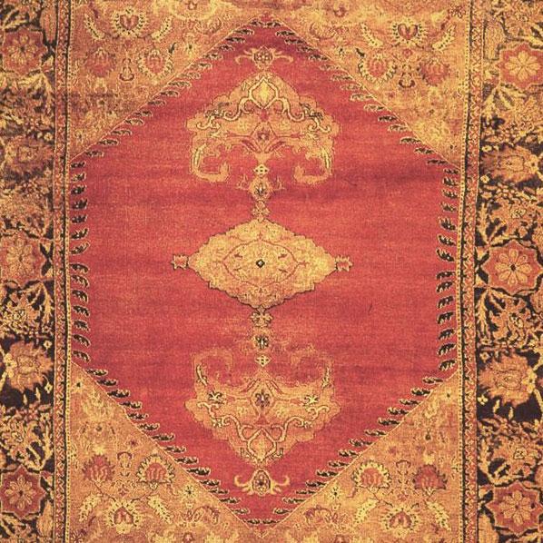 Tappeto Usciak, XIX secolo, 372x294 cm. Ghalibaf Taher Sabahi, Torino.