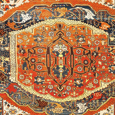 Tappeto Vaghirè, Persia Nord Occidentale, sec. XIX. GHALIBAF TAHER SABAHI - TORINO